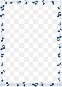 蓝色音乐符号五线谱边框素材图片免费下载_高清边框纹理png_千库网(图