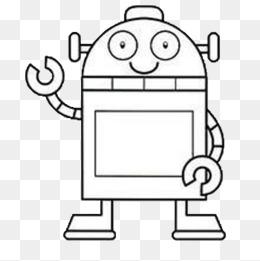 免费下载 机器人简笔画图片大全 千库网png