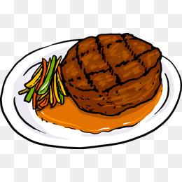 卡通矢量美味的西餐牛排素材图片免费下载_高清卡通手绘psd_千库网图片