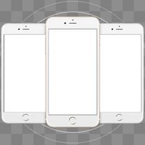 app边框白底苹果手机