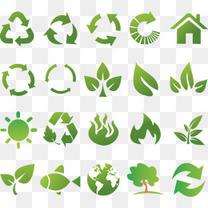 绿色环保生态图标