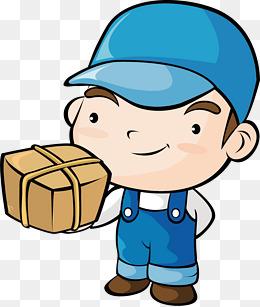 送货工png矢量素材图片免费下载_高清卡通手绘psd_千图片