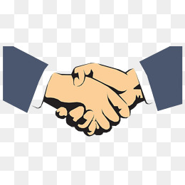 握手示好打招呼的两人图片