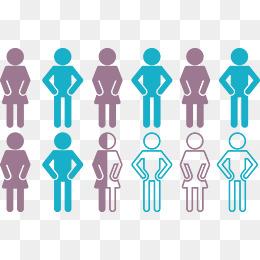 人口矢量图_人口比例图矢量图