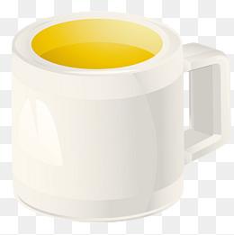 白色精美的马克杯素材图片