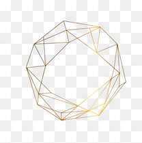 金色几何体