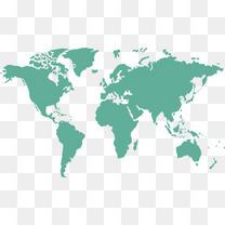 矢量绿色世界地图