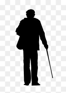 孤独老人背影