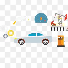 汽车油井标志图片
