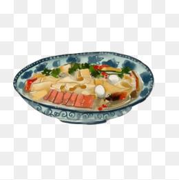 豆腐汤手绘画素材图片