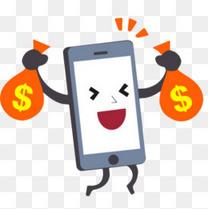 送话费手机卡通素材免费下载