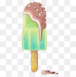 巧克力味和香芋味雪糕图片