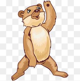 卡通棕熊造型图片