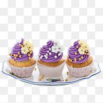 紫色奶油小蛋糕