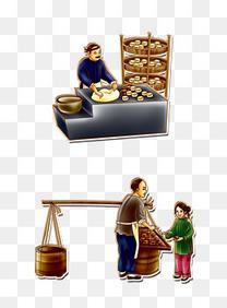 古代家庭作坊_老百姓与家庭作坊卡通图素材图片免费下载_高清png_千库网(图片 ...