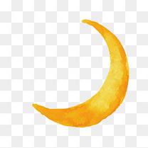 矢量手绘月亮