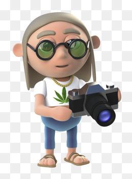 免费下载 拿相机的卡通人物图片大全 千库网png