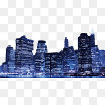夜晚城市风景背景
