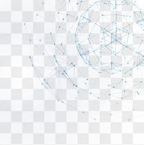 蓝色科技线条