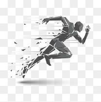 急速跑步的人物