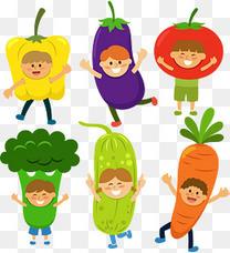矢量手绘卡通蔬菜