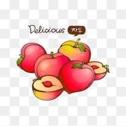 水彩桃子图片