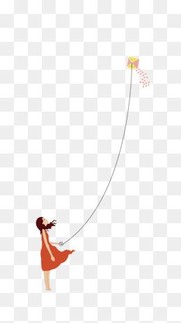 免费下载 卡通放风筝图片大全 千库网png图片