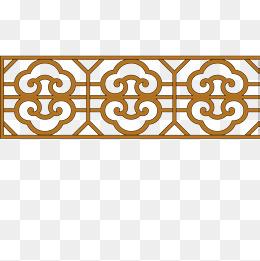 重复花纹木窗户图片
