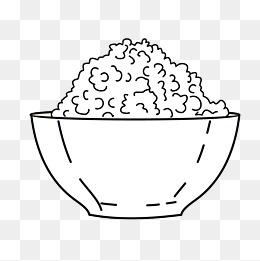 手绘米饭图片