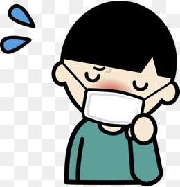 感冒生病戴口罩流鼻涕图片