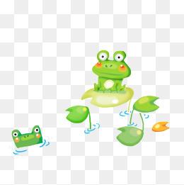 荷叶上的青蛙图片