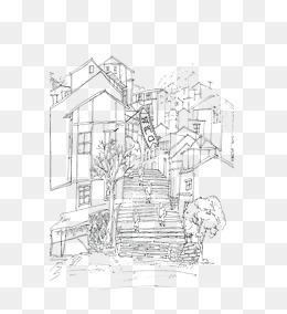 免费下载 手绘古房子图片大全 千库网png