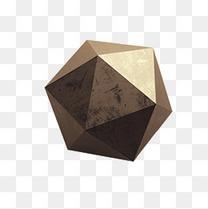 灰色多边形几何体