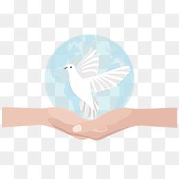 免费下载 和平鸽手绘图片大全 千库网png图片