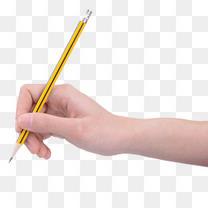 一只手拿笔