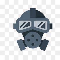 灰色防毒面具