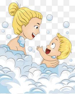 泡沫里的妈妈宝宝图片