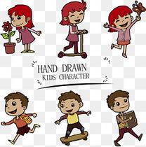 手绘儿童形象