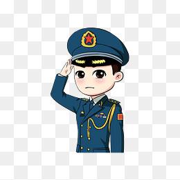 卡通空军军人敬礼图片_【卡通空军素材】免费下载_卡通空军图片大全_千库网png