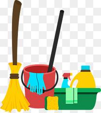 矢量清洁工具组合