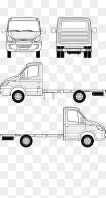 货车的平面宣传三视图的造型
