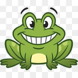 绿色手绘牛蛙图片