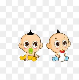 双胞胎宝宝动漫图 双胞胎唯美卡通图片图片