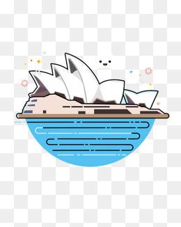 手绘澳大利亚悉尼歌剧院图片