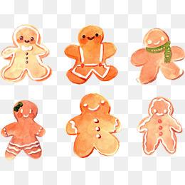 手绘可爱的饼干人图片