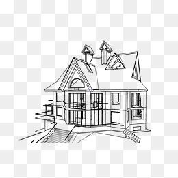 免费下载 简笔画房子图片大全 千库网png