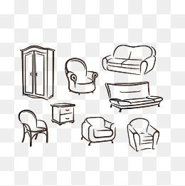 免费下载 沙发简笔画图片大全 千库网png