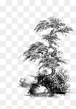 免费下载 水墨松树图片大全 千库网png