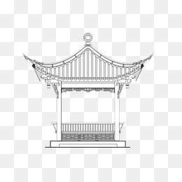 免费下载 水墨亭子图片大全 千库网png