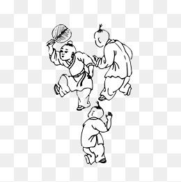 古代玩耍的小孩图片